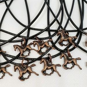 COPPER HORSES Set of 10 Party Favors Necklaces
